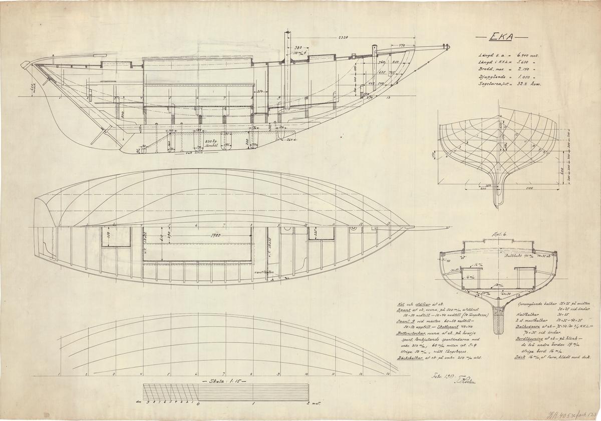 Plan, sektion och sidoritning