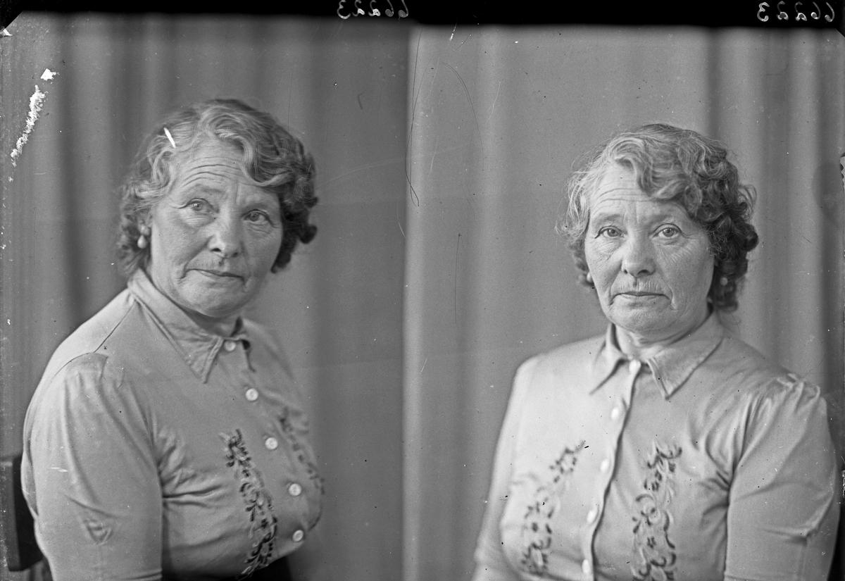 Portrett. En eldre kvinne. Bestilt av Laura Slettevold. Djupaskarsveien 22