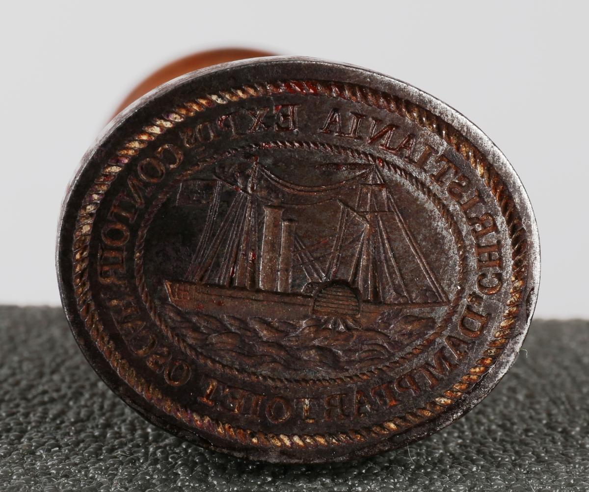 Siluett av dampskipet OSCAR, bg. 1827