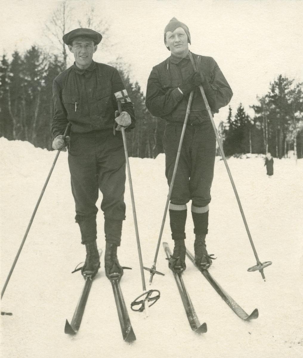 Seierherrene fra Vasaloppet 1928. Veterstrøm og Hedlund.