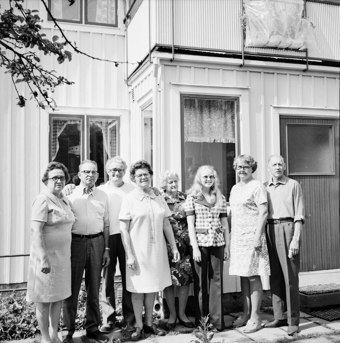 Engwalls i Spicer USA på besök. Bollnäs Juli 1973