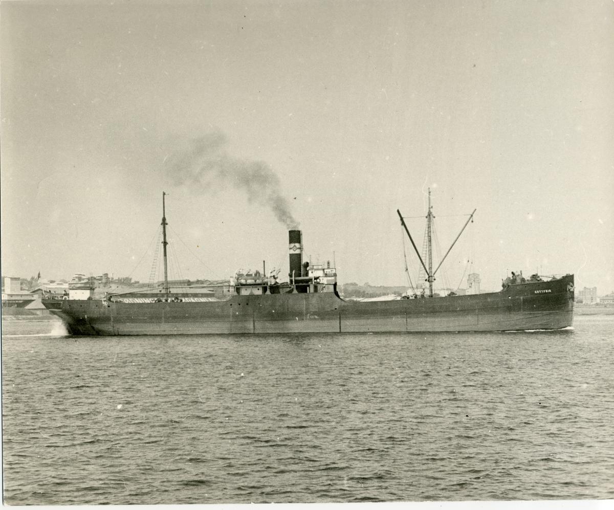 Lastfartyget ss Gottfrid ägt av Firma Gustaf Erikson 1937 - 1953
