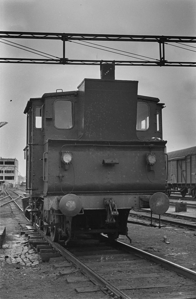 Damplokomotiv type 25a 259 i skiftetjeneste på Trondheim stasjon.