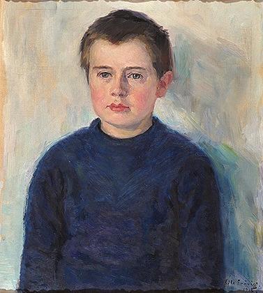 Gutteportrett (Frank Wathne) [Maleri]