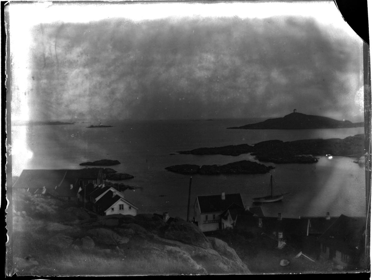 Utsikt mot Loshavn fra Støa. Fotografert 1900.