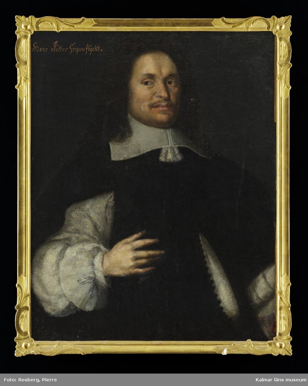 Porträtt av amiralitetsmedikus Peter Gripenflycht.