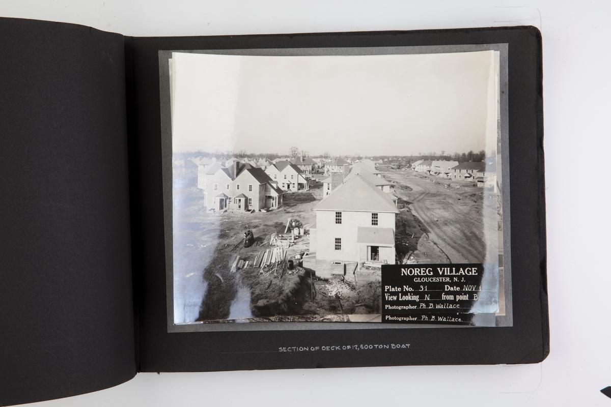 Fotoalbum med fotografier fra skipsverftet Pusey & Jones Co., Gloucester yard. President: Christoffer Hannevig
