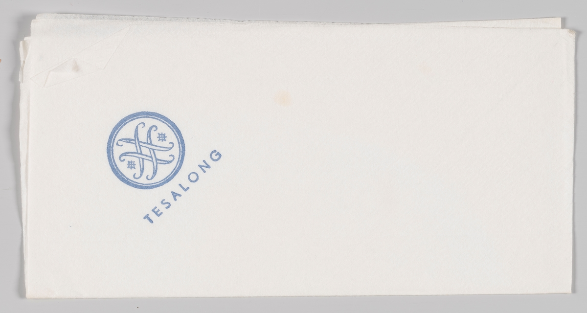Logo for Steen & Strøm og reklametekst for stormagasinets Tesalong.  Reklame for samme firma på MIA.00007-004-0174; MIA.00007-004-0176; MIA.00007-004-0177.  Steen & Strøm as er et skandinavisk kjøpesenterselskap med 18 kjøpesentre i Norge, Danmark og Sverige. Det opprinnelige Steen & Strøm-selskapet ble dannet da Emil Steen og Samuel Strøm slo sammen sine butikker i 1856. Selskapet åpnet i 1874 Kristianias første stormagasin i et stort nybygg i fire etasjer på Kongens gate 23, tegnet av arkitekt Paul Due, men dette brant ned i 1929.[1] Etter brannen ble dagens stormagasin i fem etasjer og tre tilbaketrukne etasjer oppført på samme tomt etter tegninger av arkitekt Ole Sverre. Det sto ferdig i 1930.