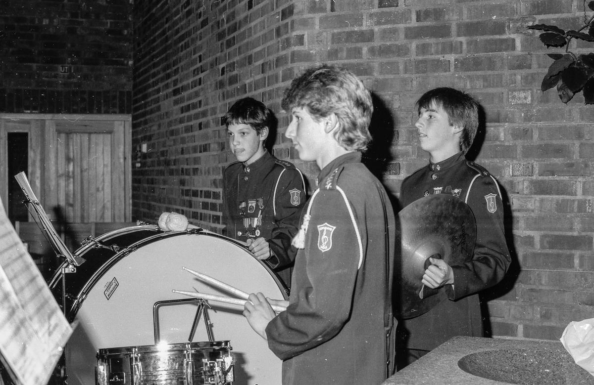 Sofiemyr skolekorps med konsert i Sofiemyr kirke, organist Bernt Norseth. Fotograf: ØB Ukjent