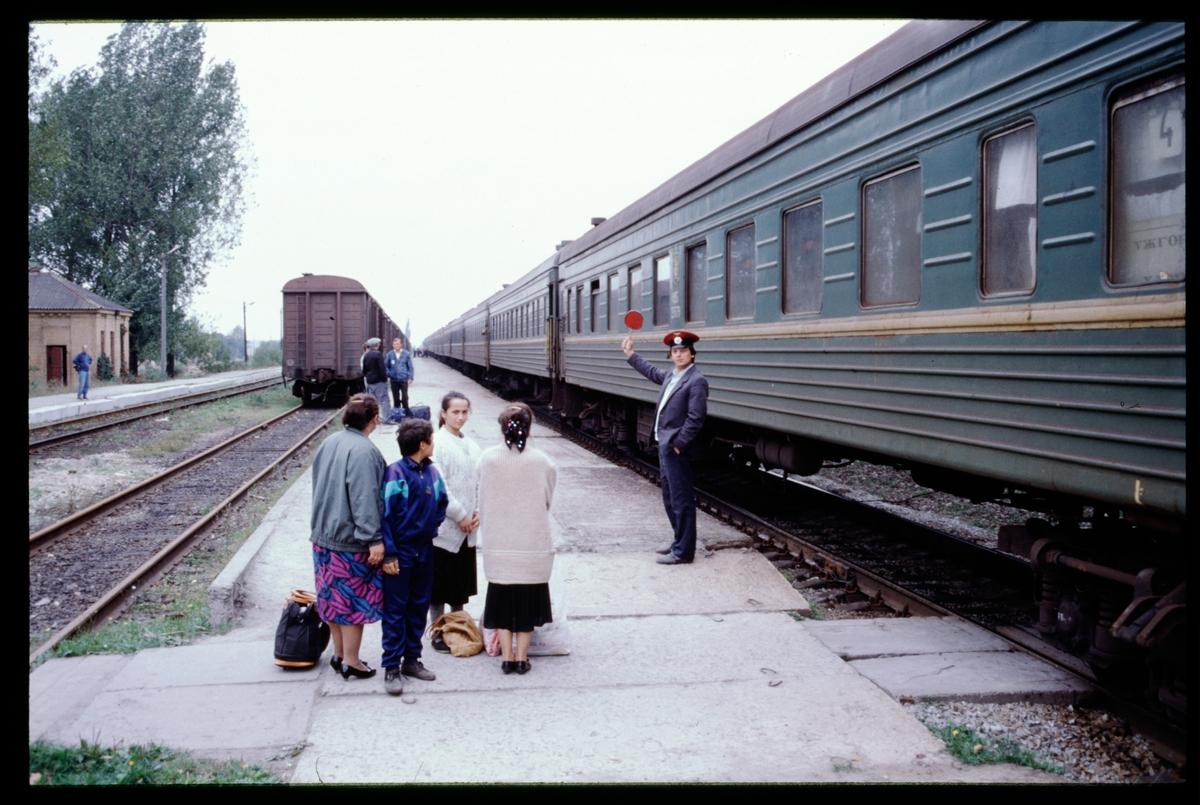Tågavgång.