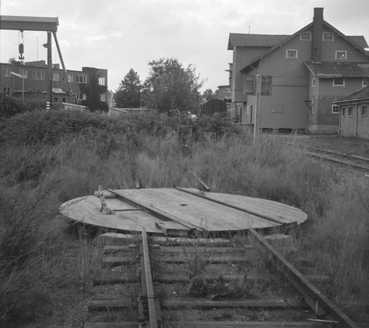 Svingskive for Solbergfossbanens motorvogn