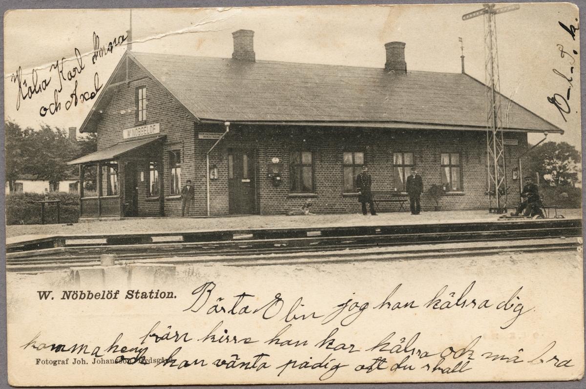 Västra Nöbbelöv station.