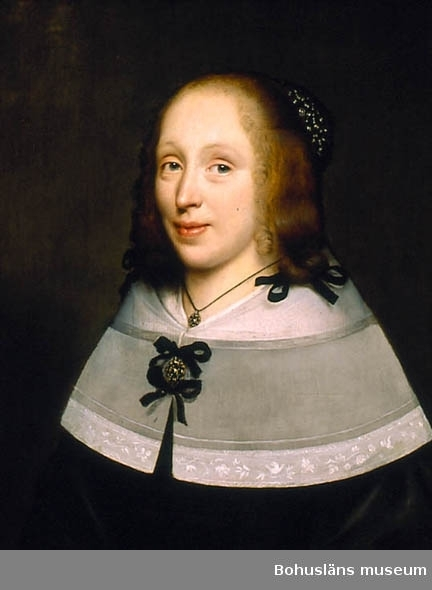 Porträtt av holländsk dam i spetskrage
