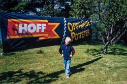 Atlungstad. Hoff potetindustri, banner, tur for ansatte. Jon