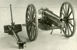 Bergkanon 7,5 cm M / 32   4. Sett fra venstre munningen