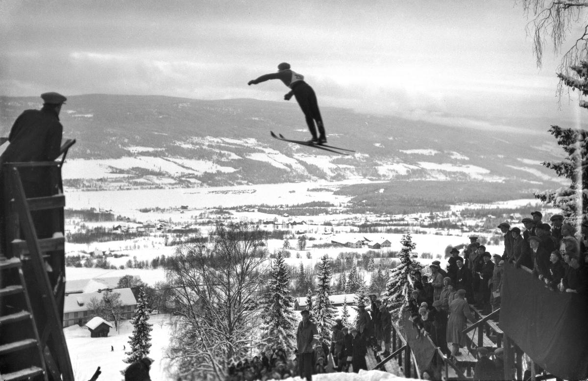 Skihopper i Lysgårdsbakken