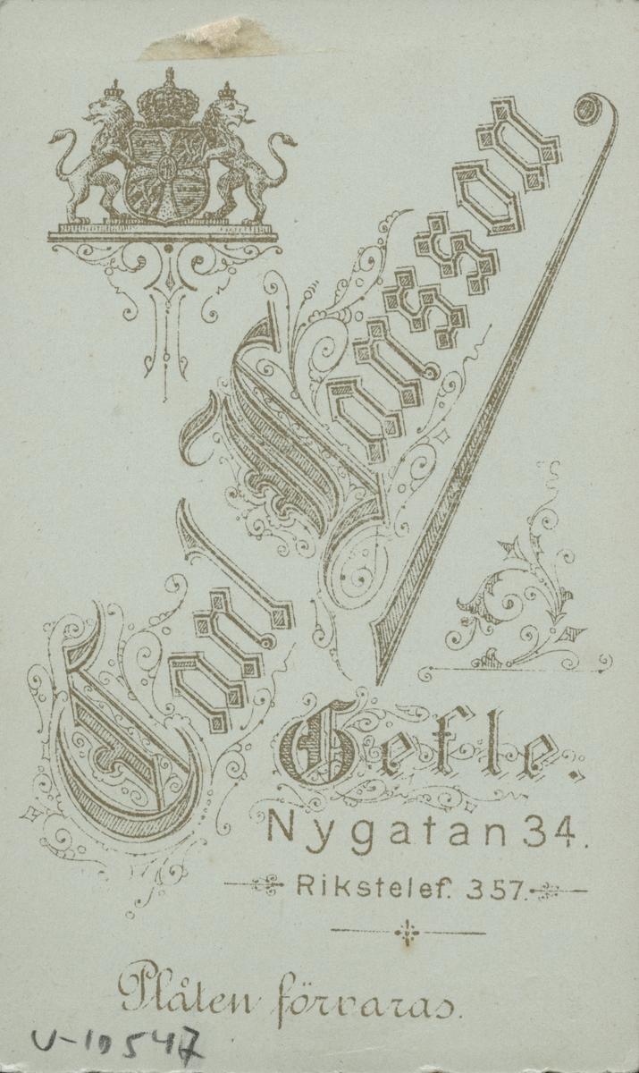 Nils Johan Sehlberg. 1895.