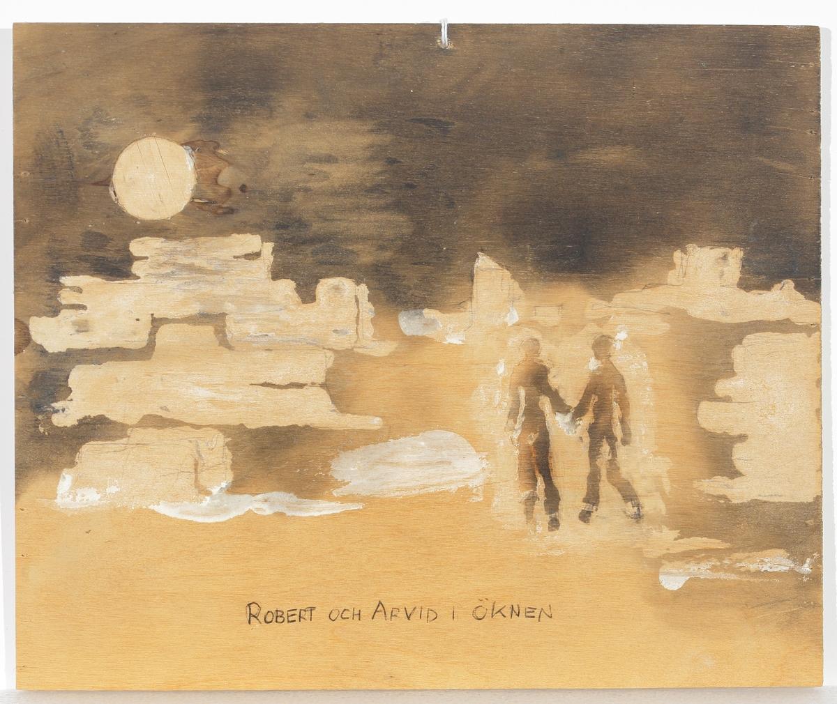 Robert och Arvid i öknen.