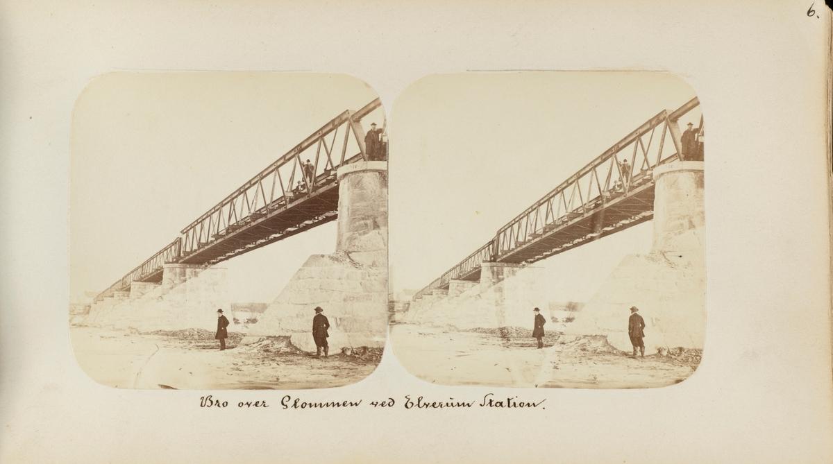 Bro over Glomma ved Elverum stasjon