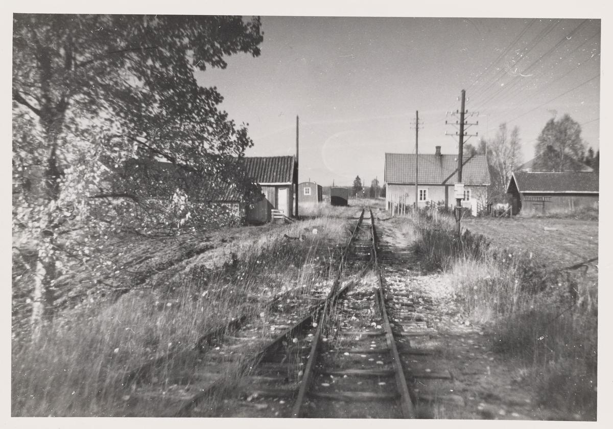 Ved Mork stasjon på den nedlagte Aurskog-Hølandbanen