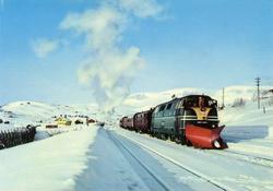NSBs innleide Deutz diesellok 40.02, med dagtoget fra Bergen