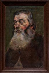 Gammel mann med skjegg [Maleri]