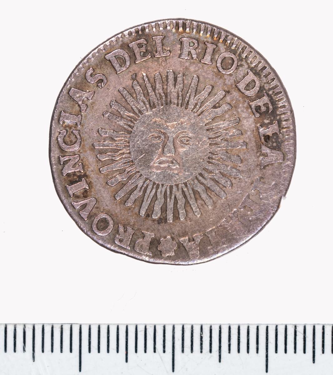 Mynt från Argentina, 1826, 2 soles.