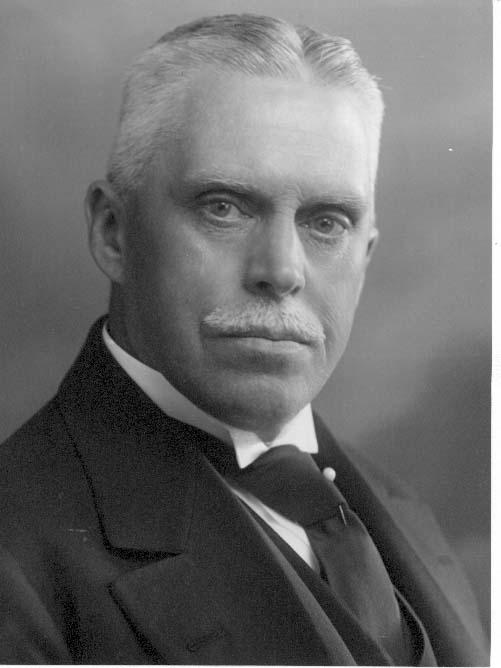 Bröstbild av kabinettskammarherre Berndt Hay, i kostym med slips och slipsnål.