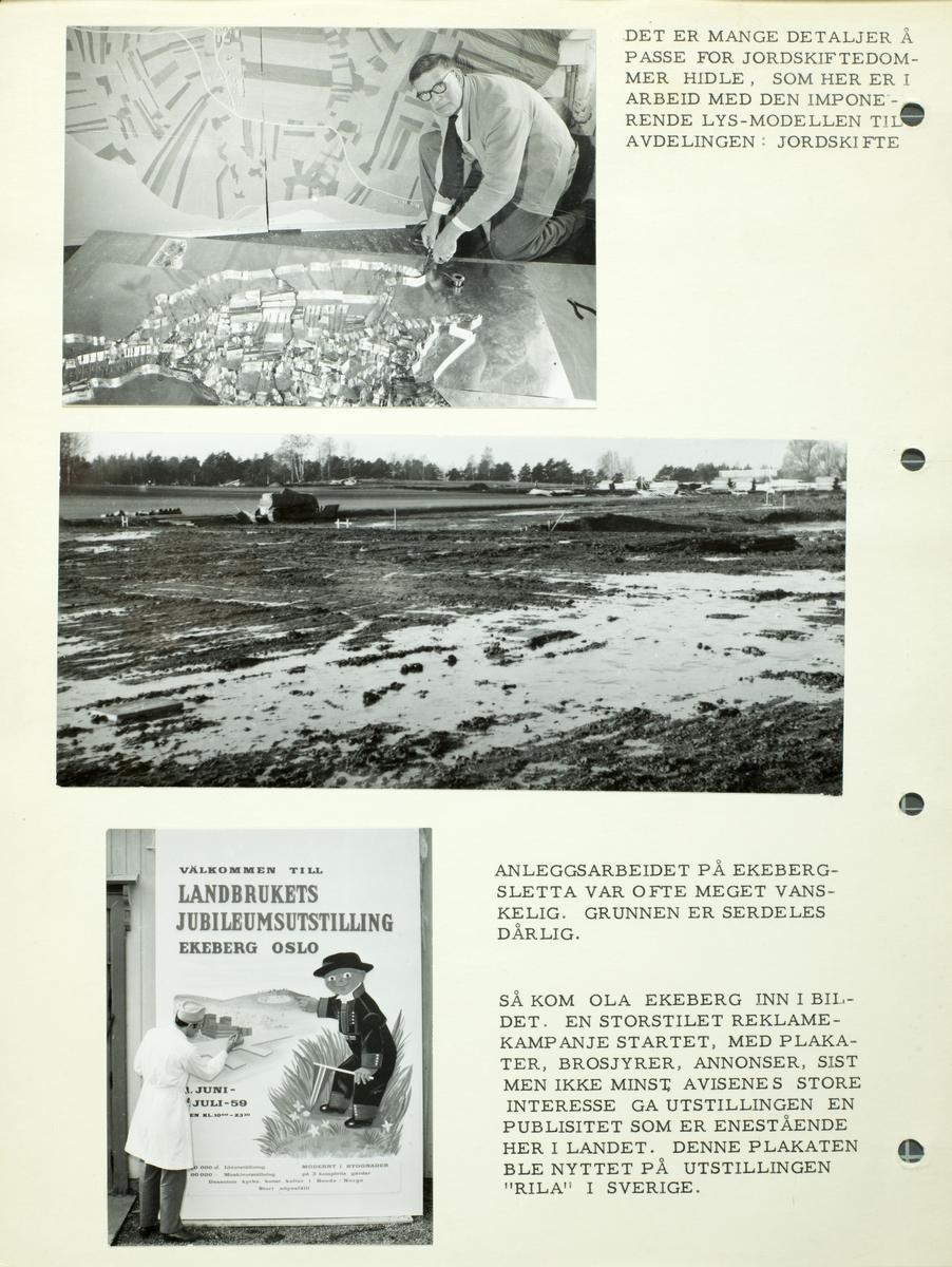 Planlegging og rigging av landbrukets jubileumsutstilling i 1959