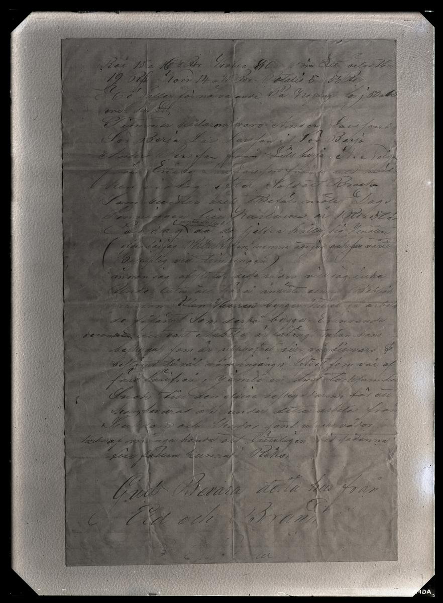 Kroppåsbrev daterat 1872. Sör Rasgärde, Munktorp sn. Avslutande text.