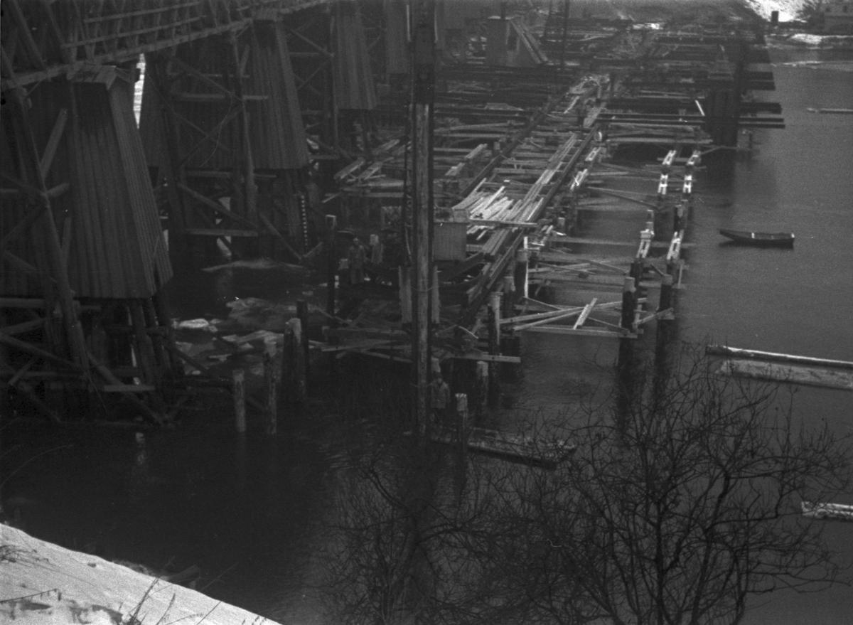 Elgeseter bru, bygging, februar 1950