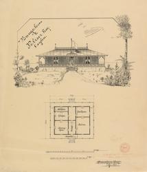 Hus for herr Paliser på Ceylon [Fasadeoppriss]