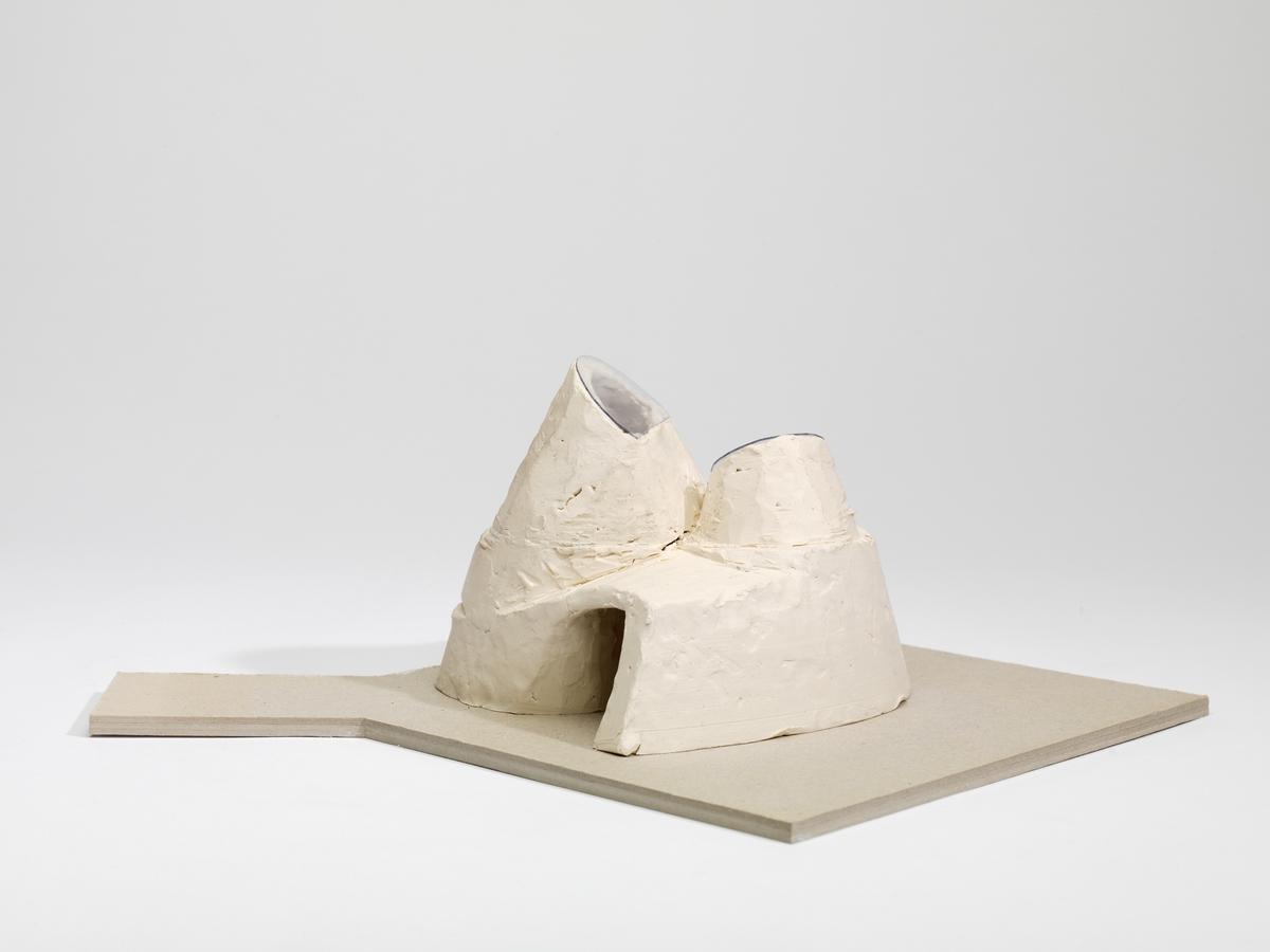 Utkast til glasspaviljong for Norsk Bremuseum [Studiemodell]