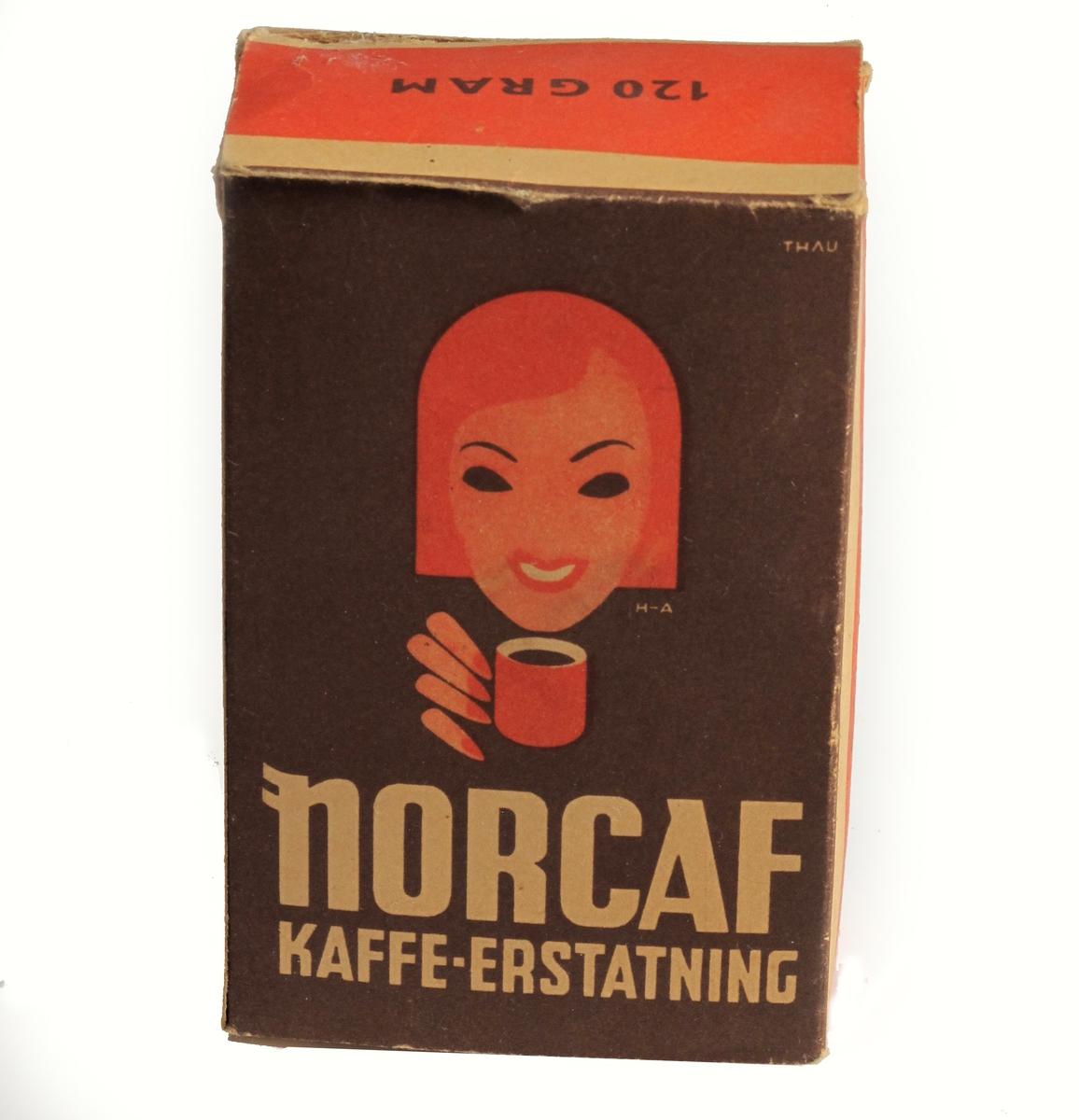 Kvinne med kaffekopp, tegnet med flater i fargetrykk. Signert.