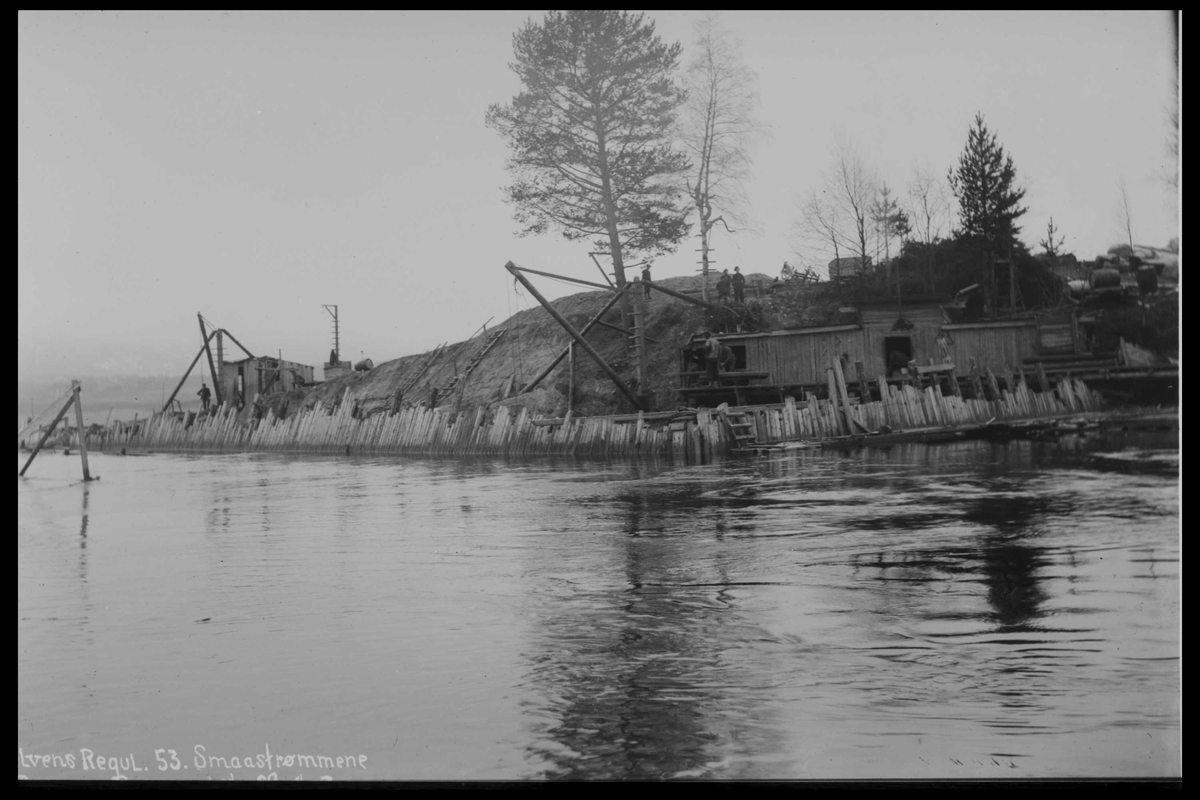 Arendal Fossekompani i begynnelsen av 1900-tallet CD merket 0446, Bilde: 8 Sted: Småstraumen Beskrivelse: Regulering