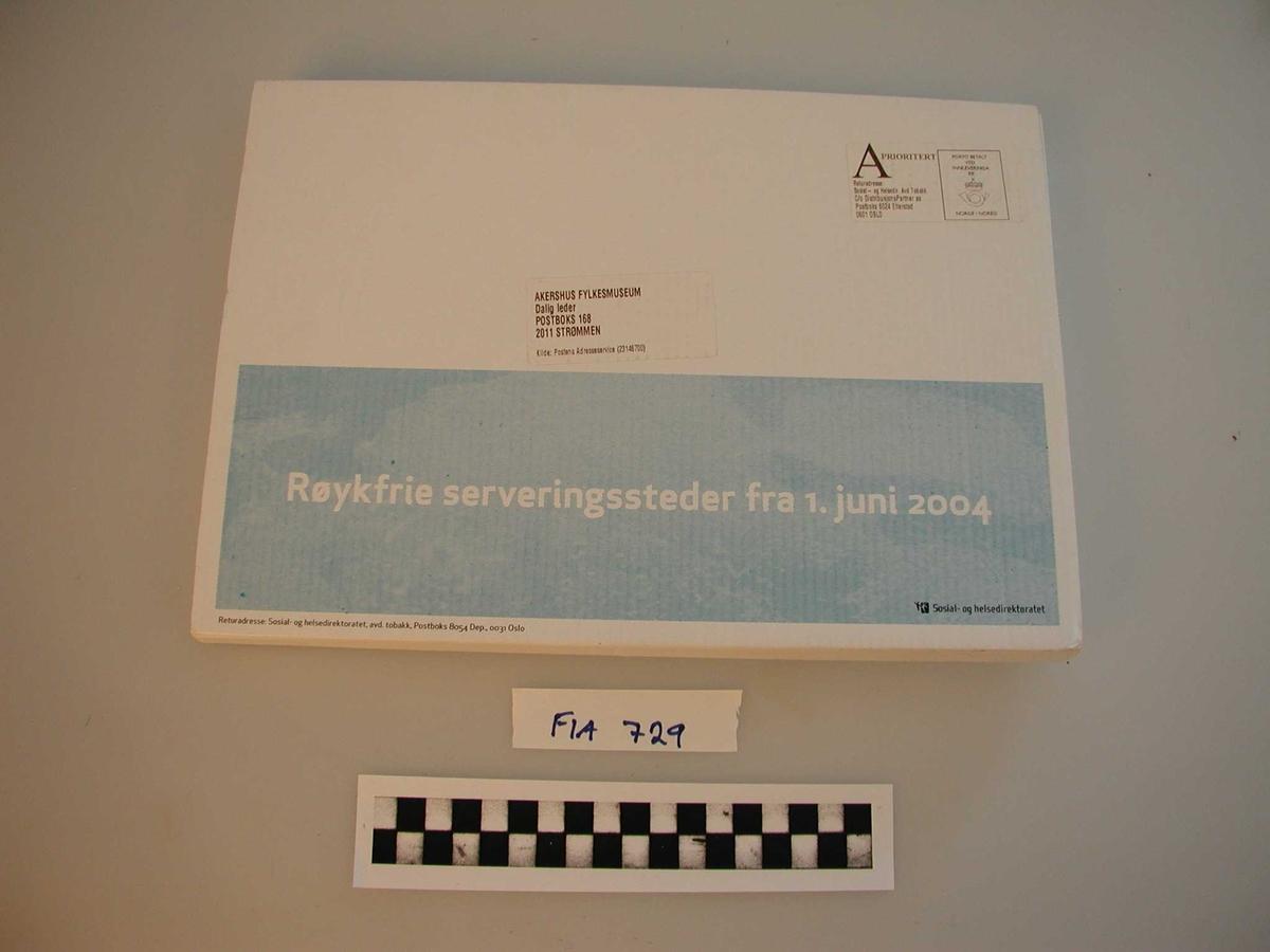 Informasjon fra Statens helsedirektorat, avd. Tobakk. Inneholder informasjonsmateriell om innføring av røykeforbud på offentlige steder.