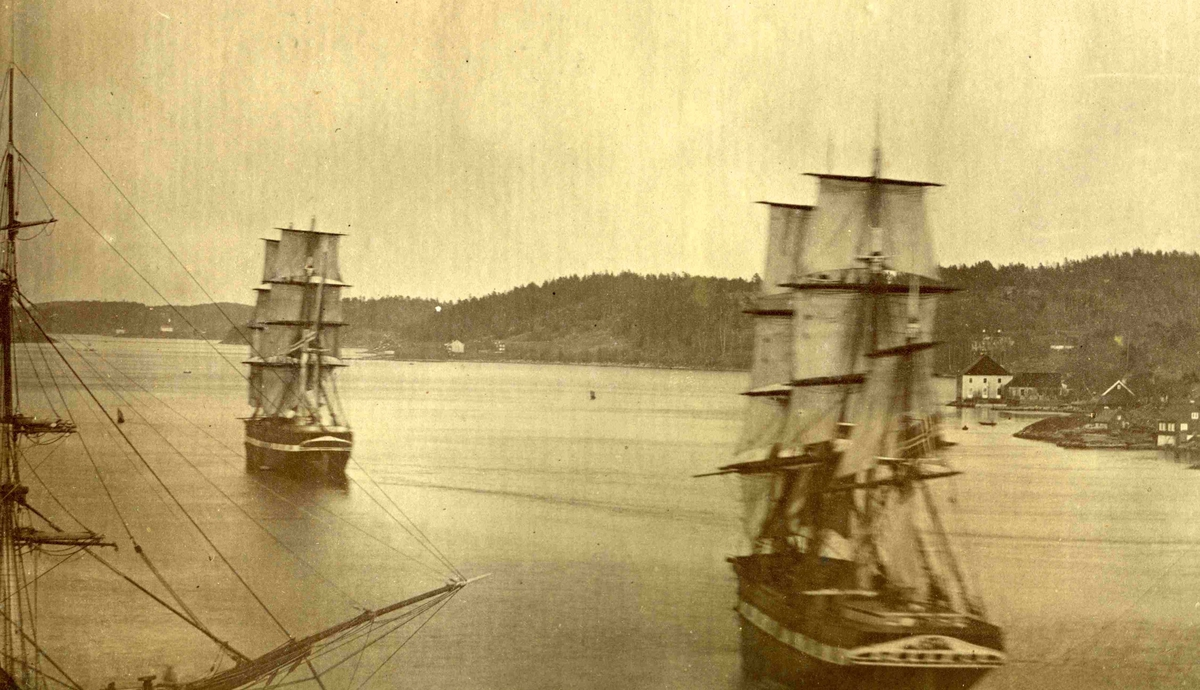 Arendal - Tromøysundet - Midt på 1800-tallet