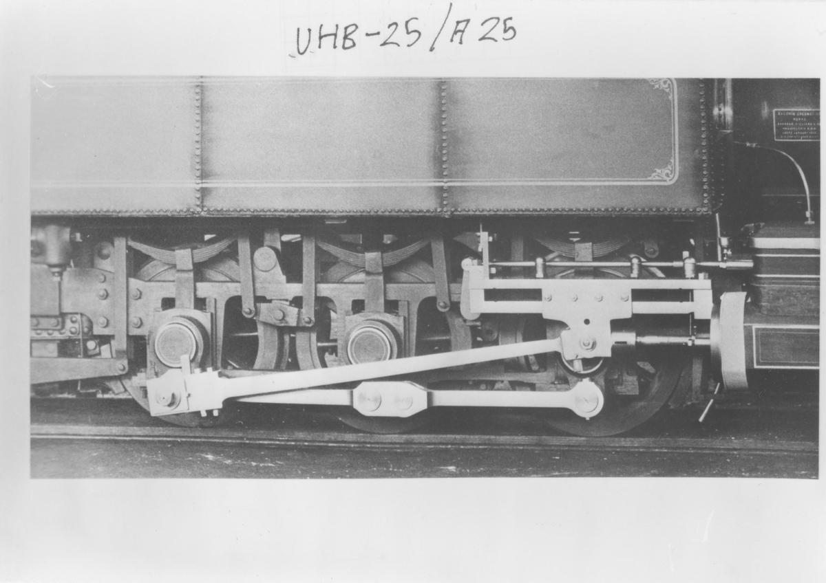Leveransefoto av lok 3 Høland fra Baldwin Locomotive Works, Philadelphia, USA.