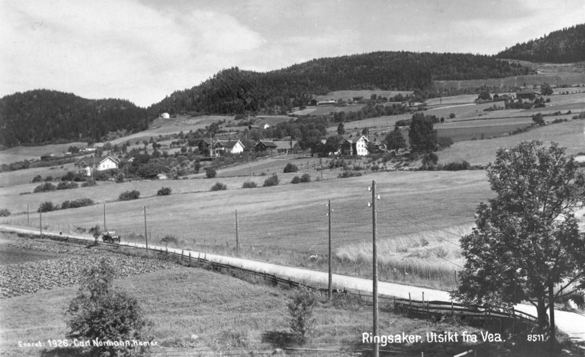 Ringsaker, Ring, utsikt fra Vea. 8511.