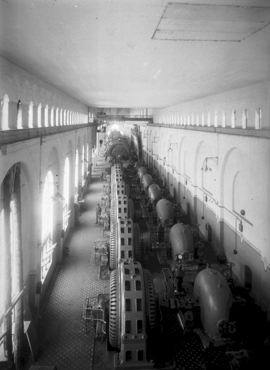 interiør, maskinhall, Tysso I, kraftstasjon