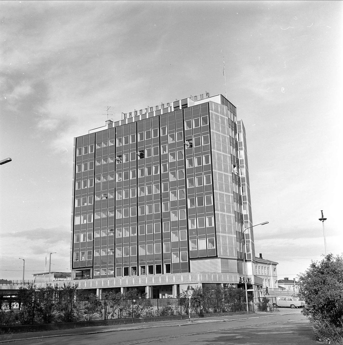 Drammen, august 1962. Drammensdagen. Bygning.
