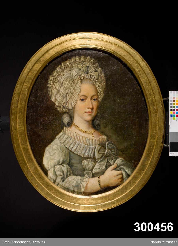 Porträtt, midjebild, av Emerentia Christ: Gagner. Porträtterad vid 41-års ålder 1787.  Människa, kvinna