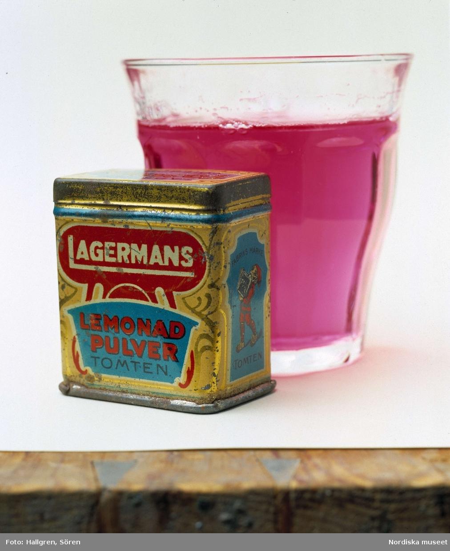 Sprakande, fräsande tomtbrus. Lagermans lemonadpulver från början av 1900-talet.