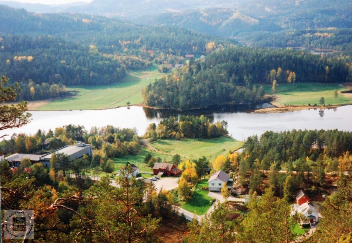 Oversikt over bosetningen i Lunden, Sveindal i Audnedal.