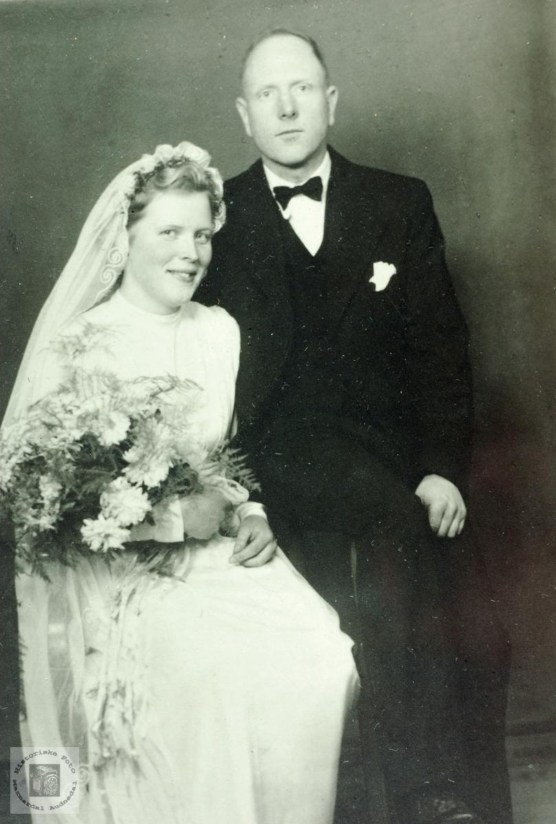 Brudebilde av Martha og Hohan Valand.
