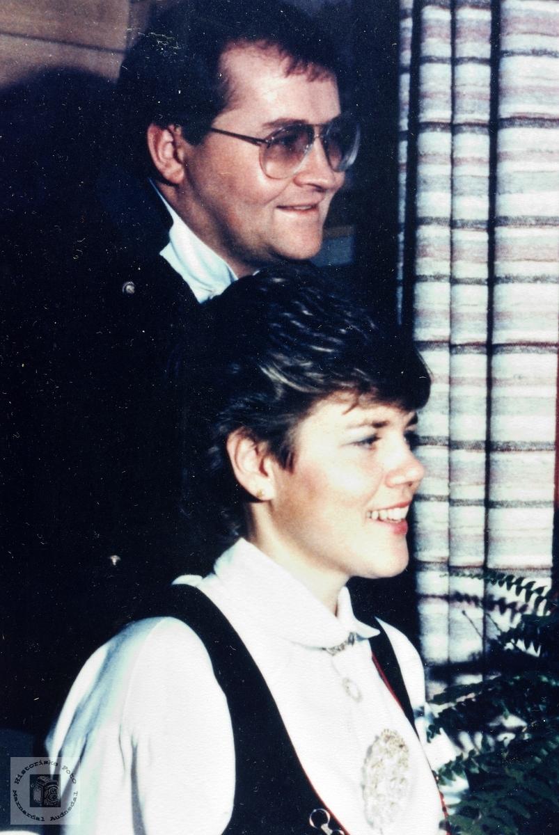Brudebilde av Søren og Marion Seland. Audnedal.