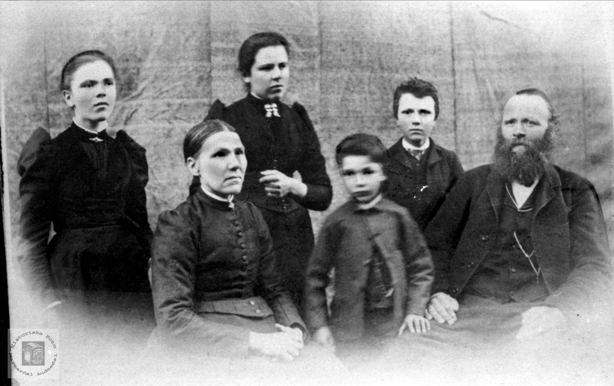 Familiebilde fra Usland, Øyslebø.