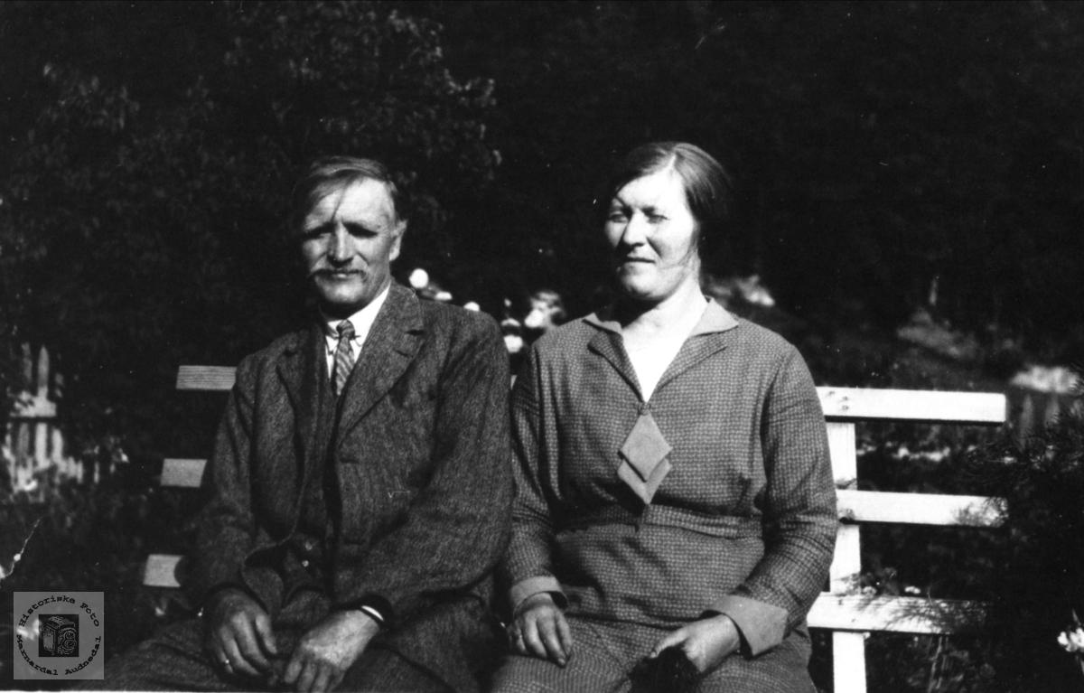 Ekteparet Stian og Anne Bertine Høyland, Øyslebø.