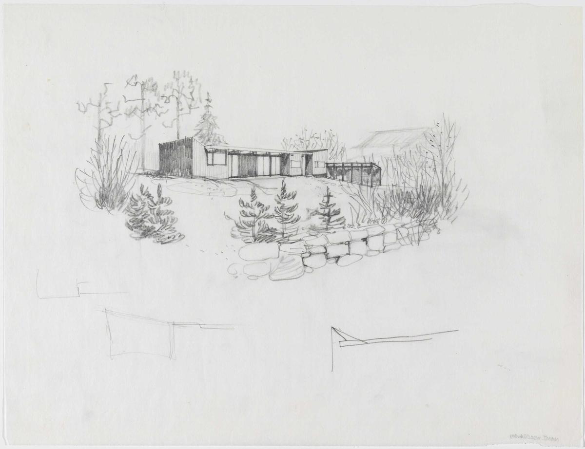 Wenche og Jens Selmers eget hus [Eksteriørperspektiv]