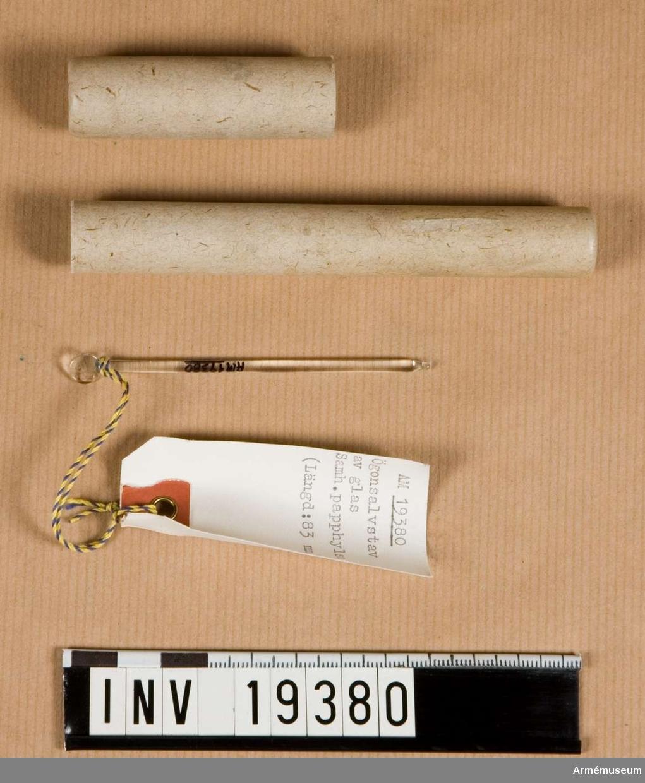 Längd 83 mm, 1 st papphylsa, längd 125 mm.